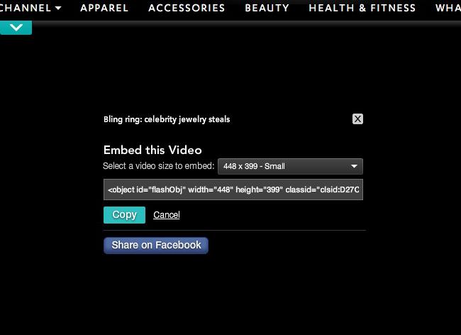 動画埋め込み用のタグ
